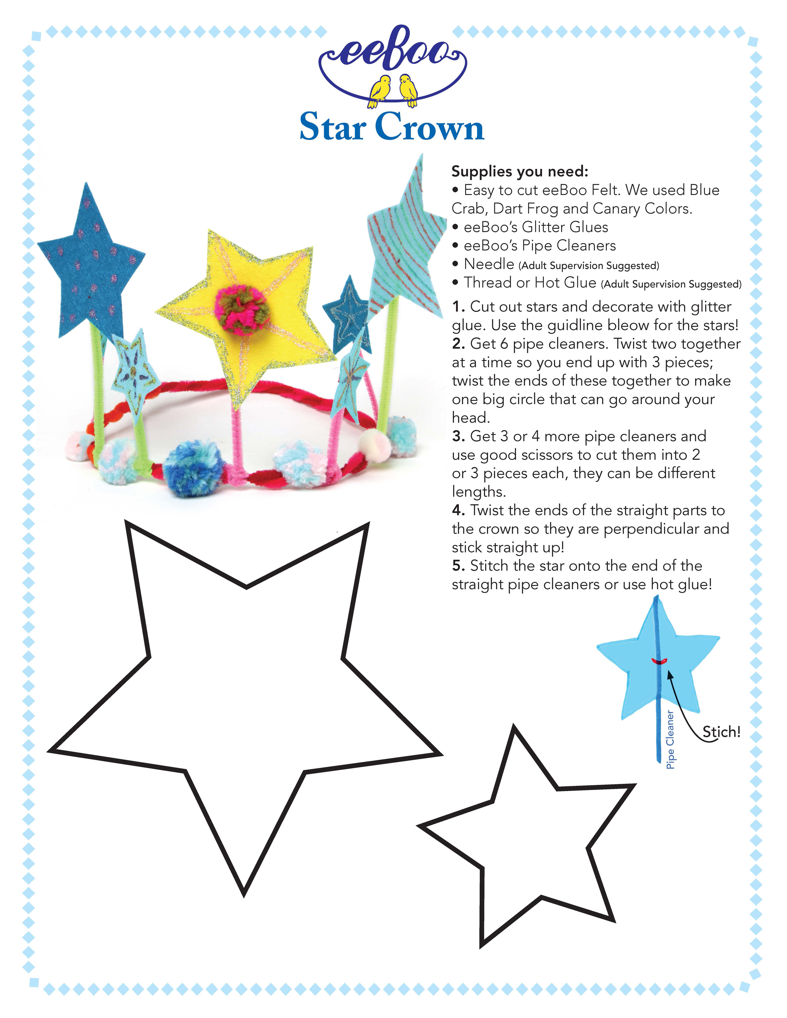 Star Shape Template To Cut Out Diy star crown. print this out