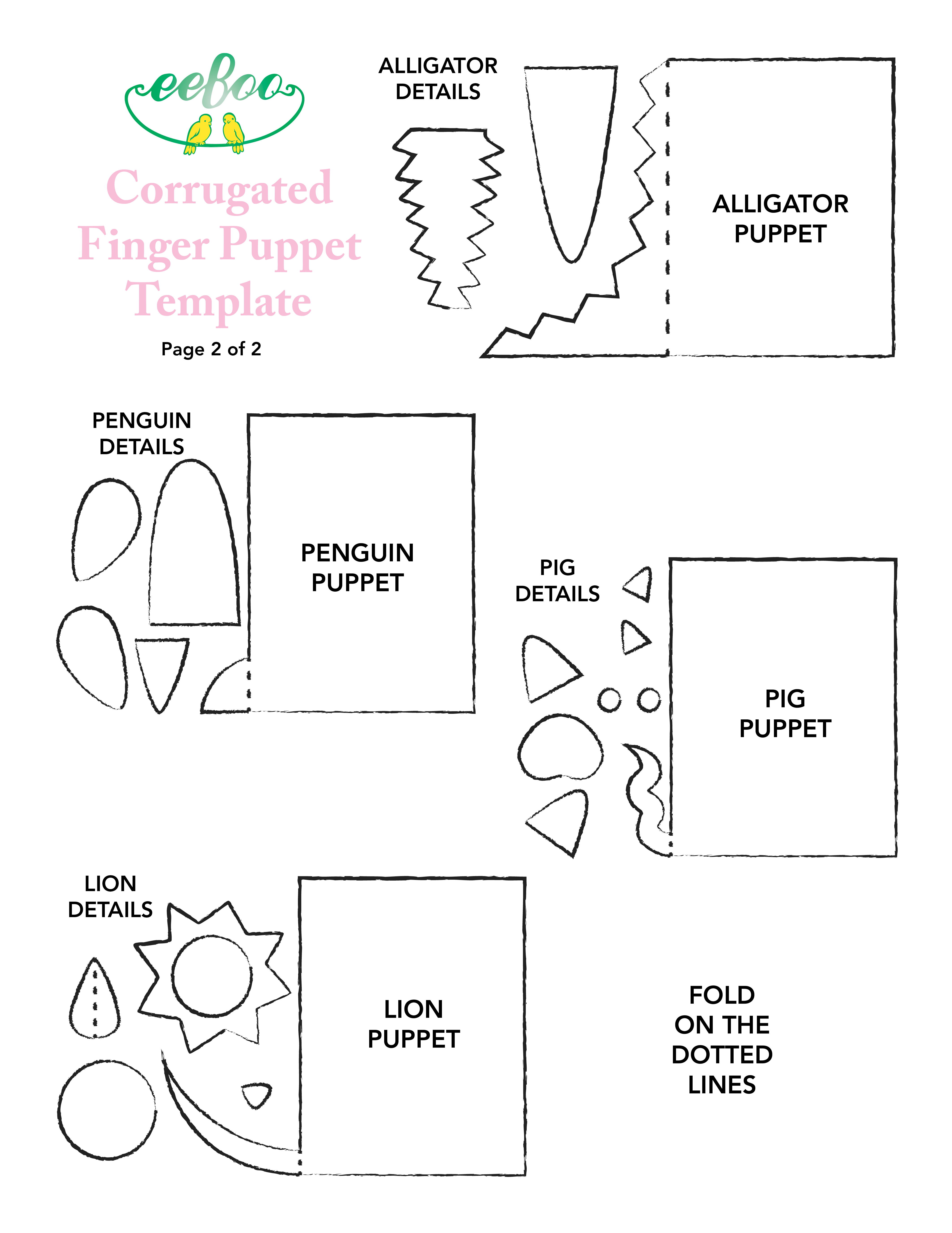 Eeboo Craft Project July13 Finger Puppet Paper2