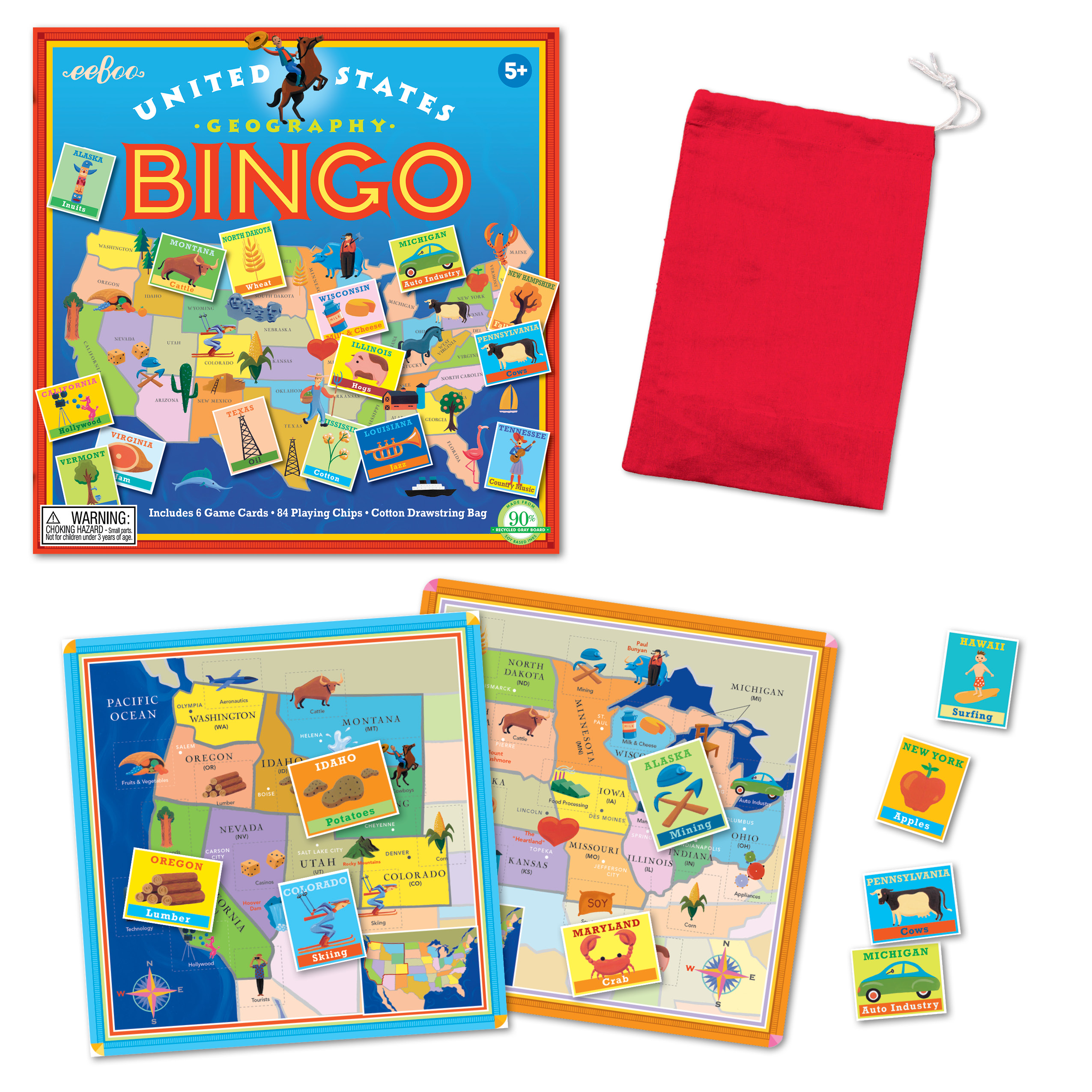 eeBoo Studio Blog Archive eeBoo s USA Bingo Best Educational